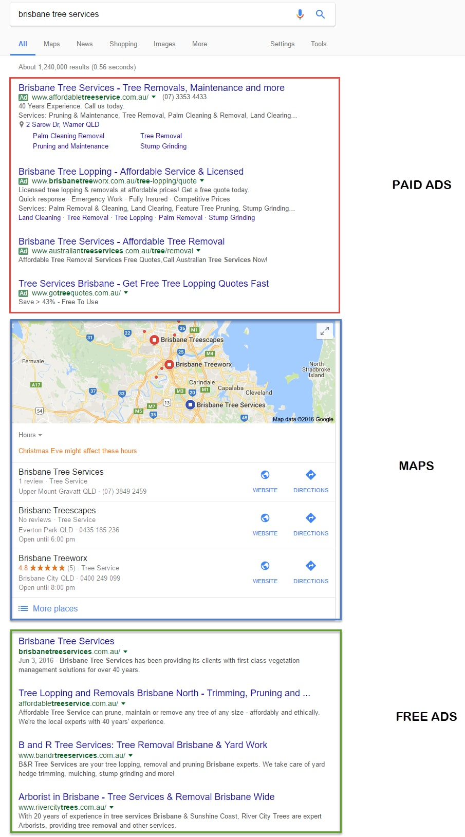 Brisbane-Search-Engine-Result